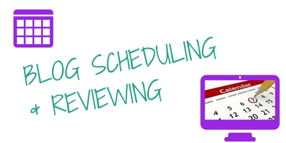 BLOG SCHEDULES
